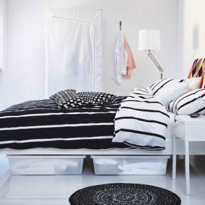 Строгая и простая спальня