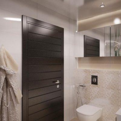 Пример двери в ванной