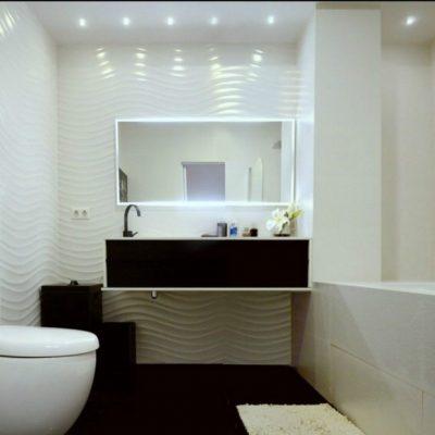Минимализм в ванной комнате на примере