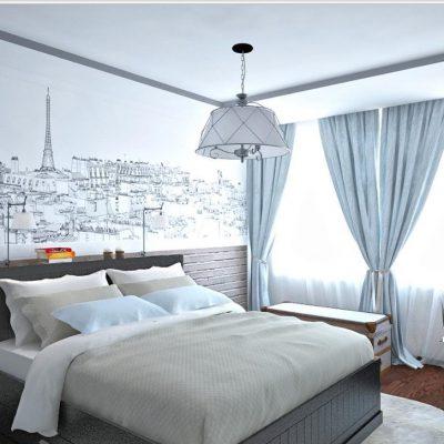 Просторная комната спальни