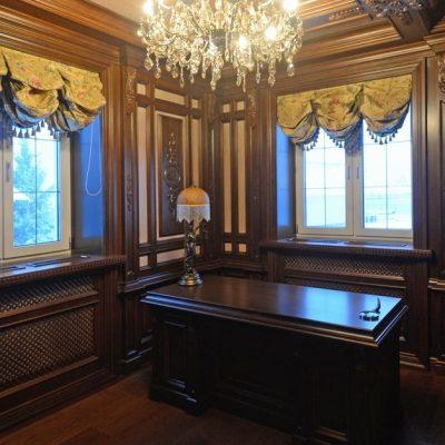 Шторы короткие для кабинета классического стиля