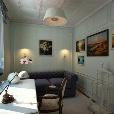 Кресла в интерьере кабинета классического стиля
