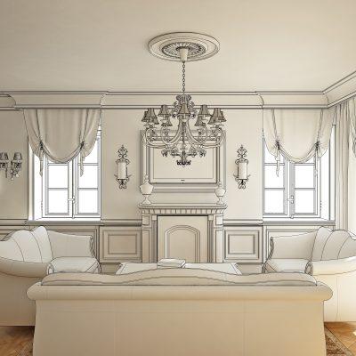 Проектный дизайн гостиной
