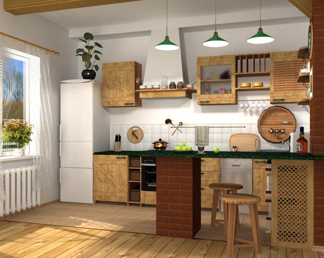 Кухня стиля кантри