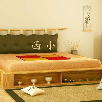 75Японский стиль мебели в спальной комнате на фото