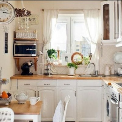 Шторы прованс стиля на кухне фото примере