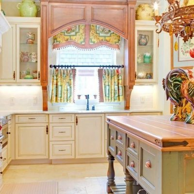 Шторы прованс стиля на кухне фото