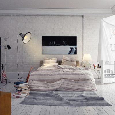 Спальная украшенная картиной