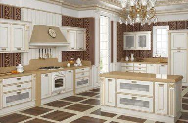 Роспись гарнитура кухонного барокко стиля на фото