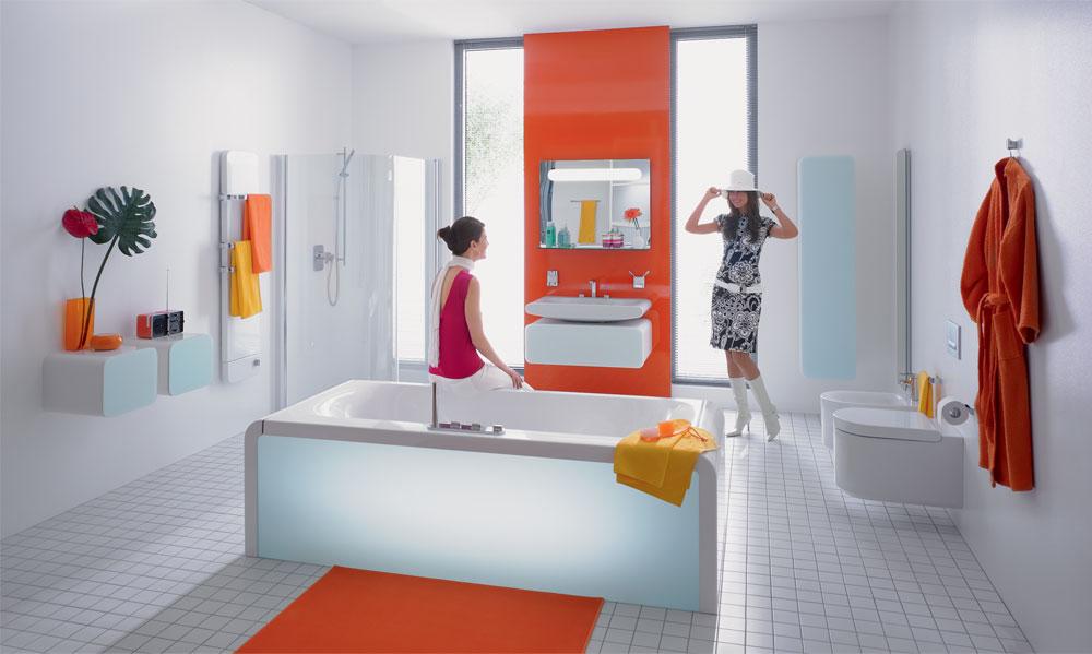 Оранцевая ванная