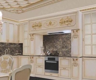 Кухня барокко стиля изящная