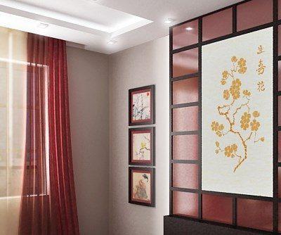 Японские шторы на фото