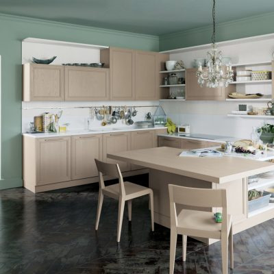 Зеленые стены на кухне