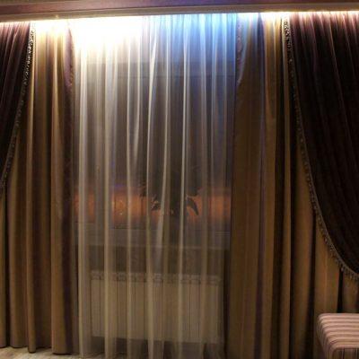 Темные шторы