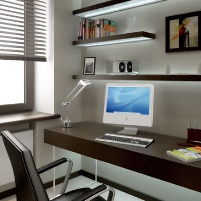 Столы в кабинете в хай текстиле