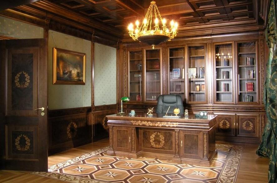 Образец кабинета с мебелью