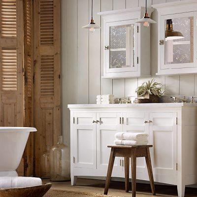 Деревенский стиль кантри ванной