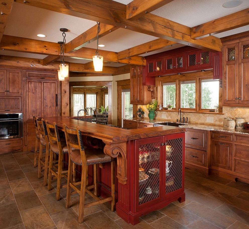 Как правило, в стиле американского кантри оформляют кухни в загородных домах