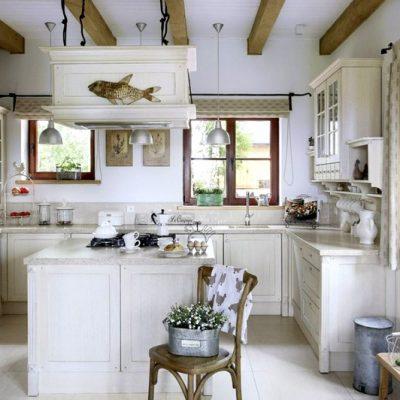 кухонный интерьере в стиле прованс