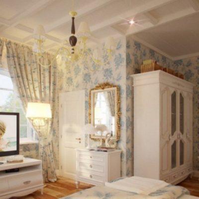 Оформление комнаты обоями в прованс