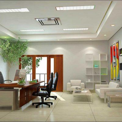 Офис фен шуй стиля на примере кабинета