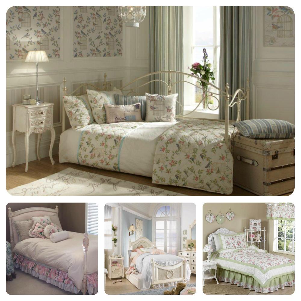 Пример кровати в духе шебби