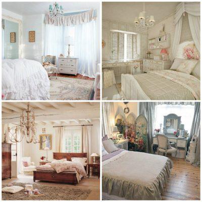 Оформление шебби спальни
