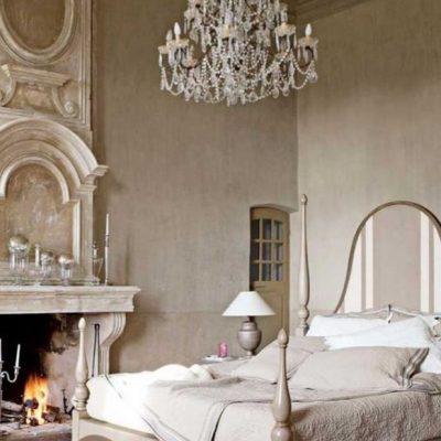 Детали шебби в спальной комнате