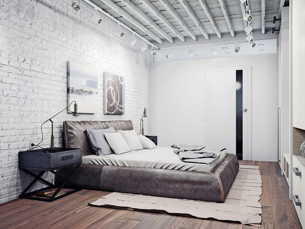 Для спальни в стиле минимализм чаще всего выбирают серый, белый и черный цвет