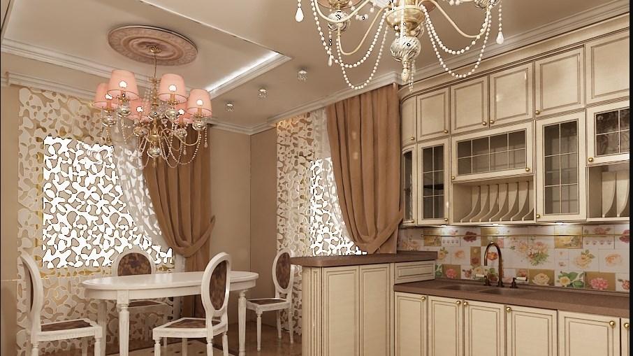 Шторы для кухни в классическом стиле: основные идеи дизайна