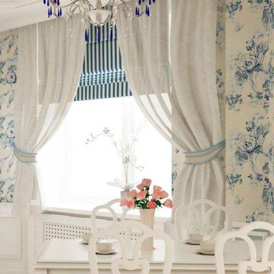 Белые шторы