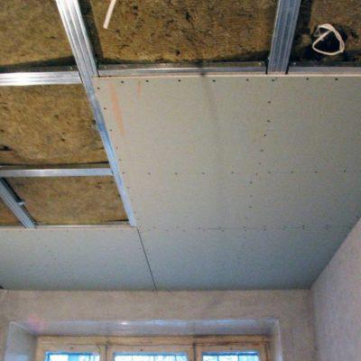 Потолок картон