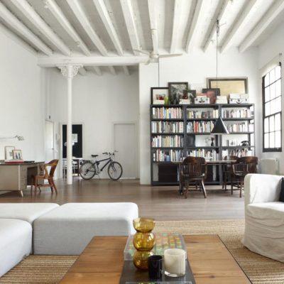 Балки на потолке - стиль лофт