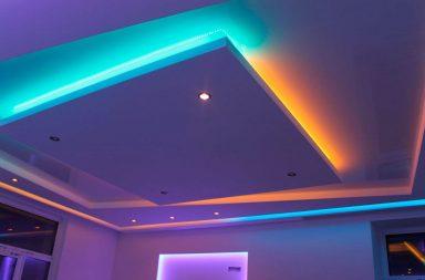 Двухуровневый потолок фото