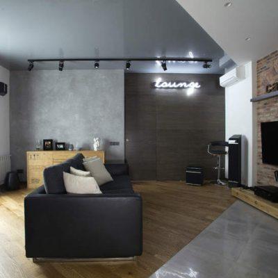 Интерьер в стиле лофт потолок