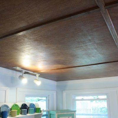 Потолок фанера