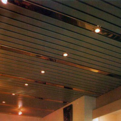 Реечный потолок фото белый