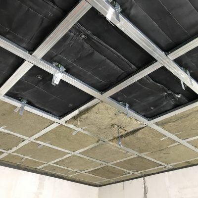 Шумоизоляция под натяжной потолок в квартире