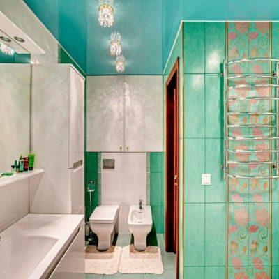 Ванная комната потолок натяжной