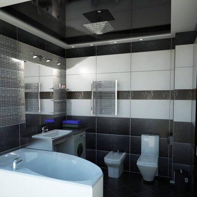 Ванная комната чёрная