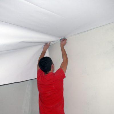 Монтаж матового потолка