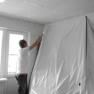 Натяжка навесного потолка