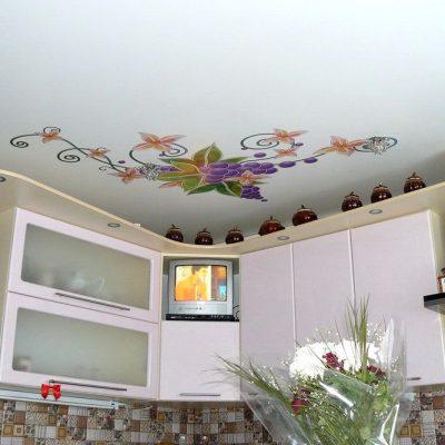 Потолки натяжные с арт узорами