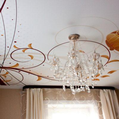 Потолок с арт фотопечатью