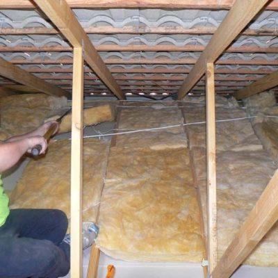 Потолок утеплитель