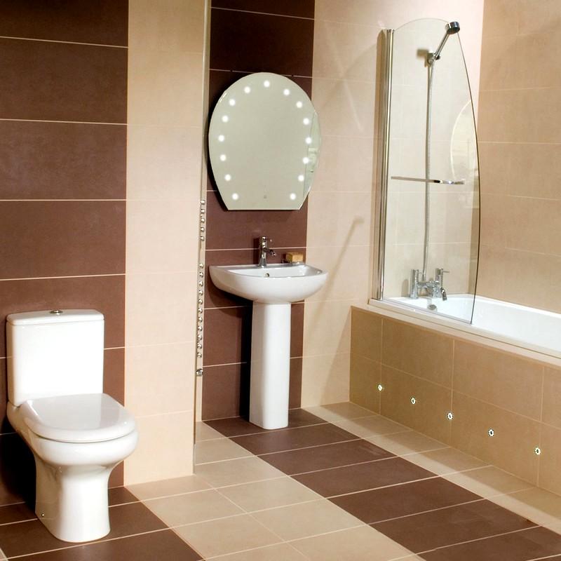 Вариант дизайна небольшой ванной комнаты