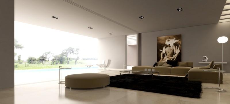 Гламурный дизайн современной гостиной