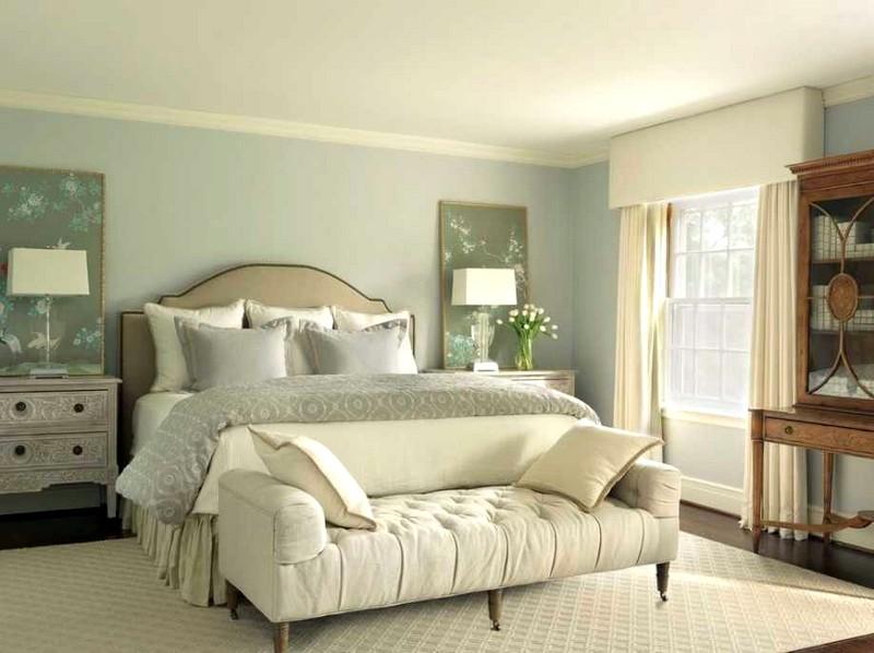 Дизайн спальни в светло-зеленых тонах