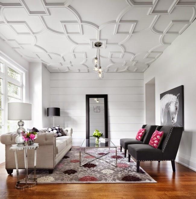 Дизайн стильной отделки стен и потолка