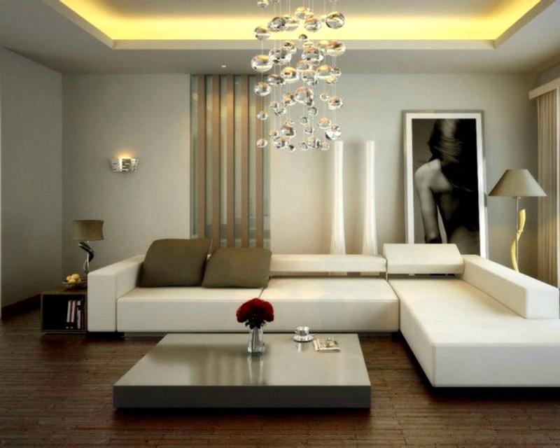 Идея дизайна интерьера современной гостиной